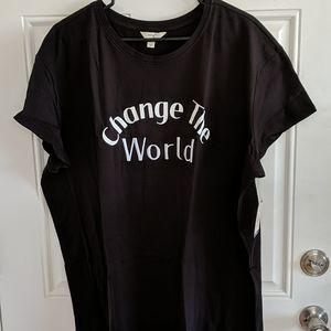 "NWT Plus Size ""Change the World"" Tshirt"